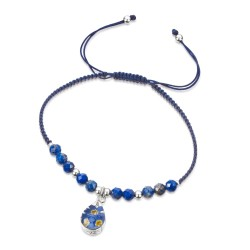 Forget Me Not Teardrop Bracelet With Lapis Lazuli TGBR07