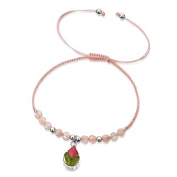 Rose Teardrop Bracelet With Rose Quartz TGBR14