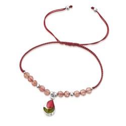 Rose Teardrop Bracelet With Garnet TGBR15