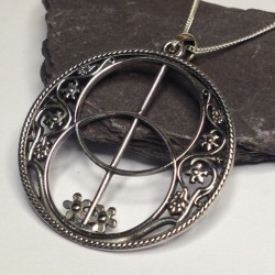 Silver Chalice Well Necklace