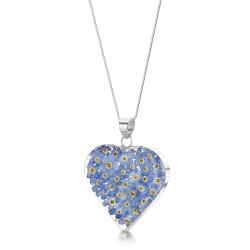 Forget Me Not Large Heart Pendant FP14