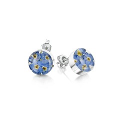 Forget Me Not Round Stud Earrings FE05