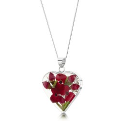 Poppy & Rose Medium Heart Pendant PRP05