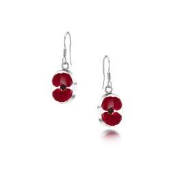 Poppy Large Oval Dangle Earrings PE01
