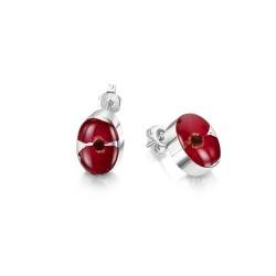 Poppy Oval Stud Earrings PE02