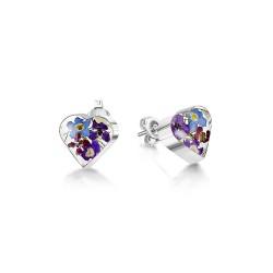 Purple Haze Heart Stud Earrings BLE02
