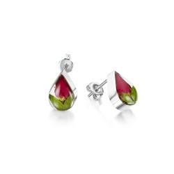 Rosebud Teardrop Stud Earrings RE02