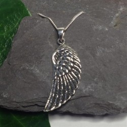 Silver Necklace Angel Wing
