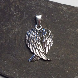 Silver Double Angel Wing Necklace