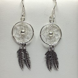 Silver Earrings Dreamcatcher