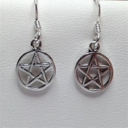 Silver Earrings Small Pentagram