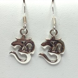 Silver Earrings Small Ohm
