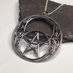 Silver Chalice Well & Pentagram Necklace