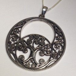 Silver Chalice Well & Tree Of Life Necklace