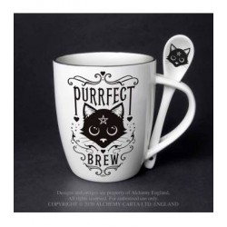 Alchemy Mug and Spoon Set Purrfect Brew