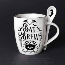 Alchemy Mug and Spoon Set Bat Brew