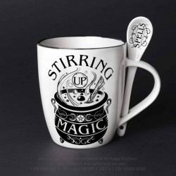 Alchemy Mug and Spoon Set Stirring Up Magic