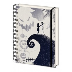 The Nightmare Before Christmas Spiral Hill A5 Ringbound Notebook