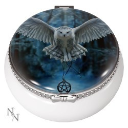 Anne Stokes Ceramic Trinket/Pill Box Awaken Your Magic