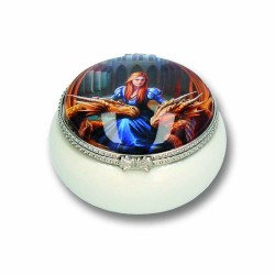 Anne Stokes Ceramic Trinket/Pill Box Fierce Loyalty
