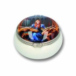 Anne Stokes Ceramic Trinket/Pill Box Fierce Loyalty