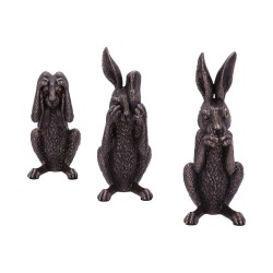 Nemesis Now Bronze Three Wise Hares Figurine