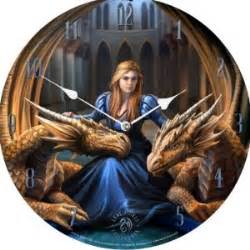 Anne Stokes Wooden Clock Fierce Loyalty