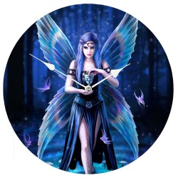 Anne Stokes Wooden Clock Enchantment