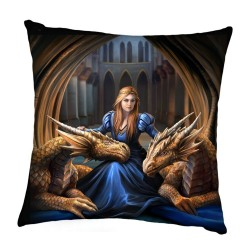 Anne Stokes Cushion Fierce Loyalty