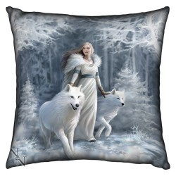 Anne Stokes Cushion Winter Guardians
