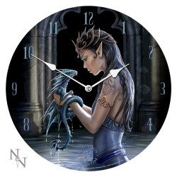 Anne Stokes Wooden Clock Water Dragon