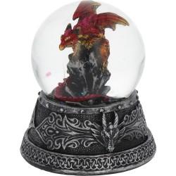 Nemesis Now Dragon Snowglobe Enchanted Ruby