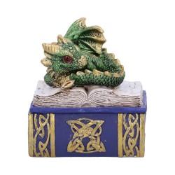 Nemesis Now Dragon Box Bedtime Stories Green Figurine