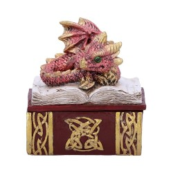 Nemesis Now Dragon Box Bedtime Stories Red Figurine