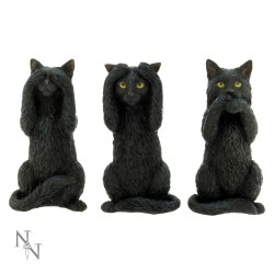 Nemesis Now Cat Figurine-Three Wise Cats