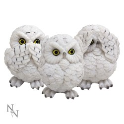 Nemesis Now Three Wise Owls Figurine