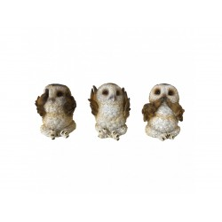 Nemesis Now Three Wise Brown Owls Figurine