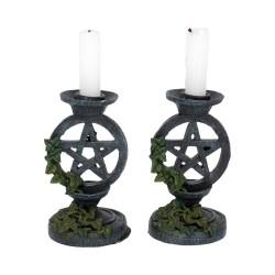 Nemesis Now Candle Holder Set Ivy Pentagram
