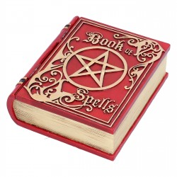 Nemesis Now Box Book Of Spells Red