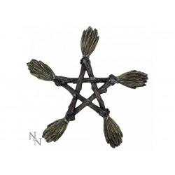 Nemesis Now Wall Plaque Broomstick Pentagram