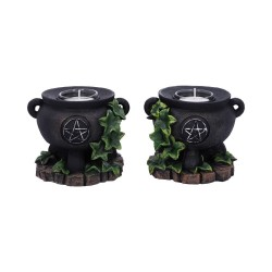 Nemesis Now Candle Holder Set Ivy Cauldrons Figurine DUE IN MAY