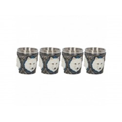 Nemesis Now Shot Glass Ghost Wolf