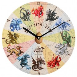 Anne Stokes Wooden Clock Hatching Time