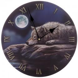 Lisa Parker Wooden Clock Quiet Reflection