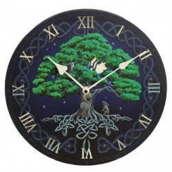 Lisa Parker Wooden Clock Tree Of Life