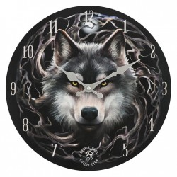 Anne Stokes Wooden Clock Night Forest