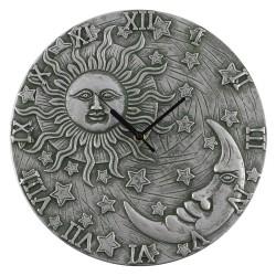 Terracotta Clock Sun & Moon