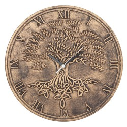 Terracotta Clock Tree Of Life