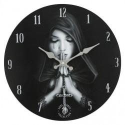 Anne Stokes Wooden Clock Gothic Prayer