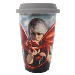 Anne Stokes Travel Mug Dragon Kin